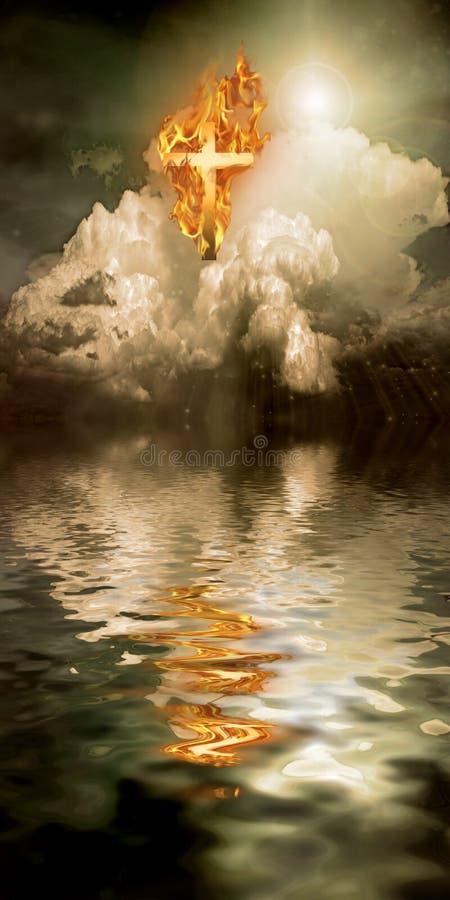 ogień krzyżowy ilustracja wektor