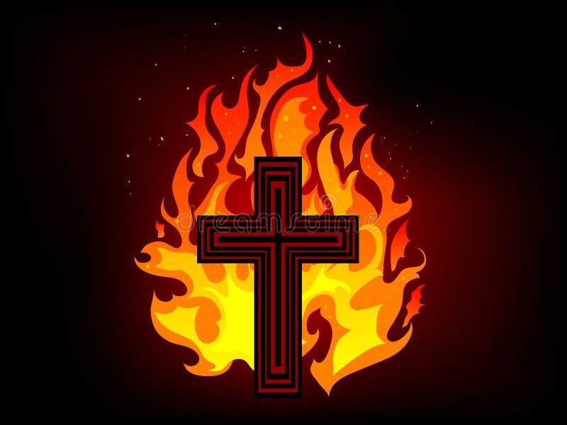 ogień krzyżowy royalty ilustracja