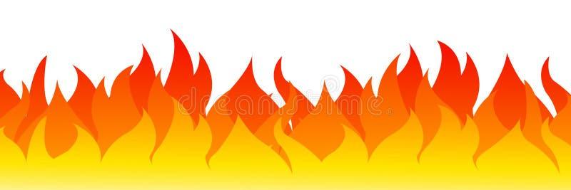 Ogień na białym tle Wektorowa ilustracja dla projekta - dla zapasu royalty ilustracja
