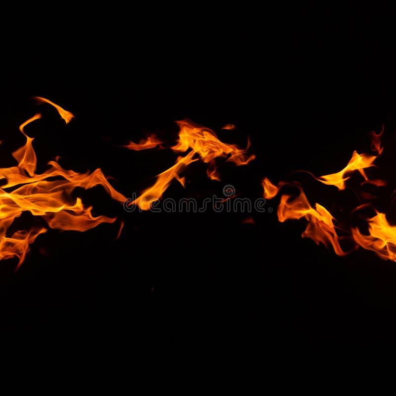 Ogień na czarnym tle obrazy royalty free