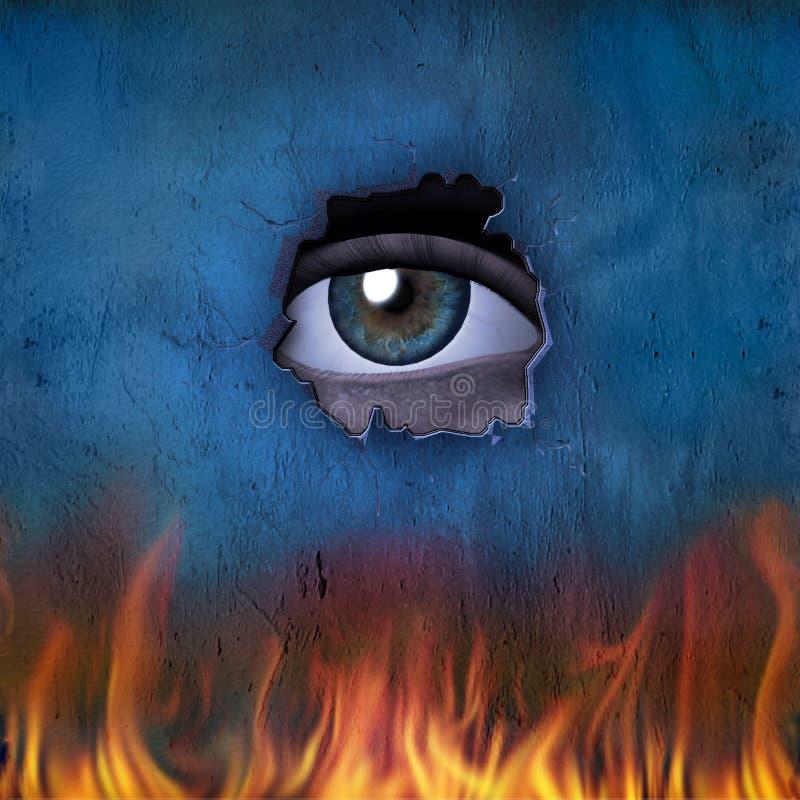 ogień na oko ilustracji