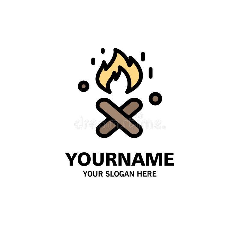 Ogień, ogienia miejsce, Kanada logo Biznesowy szablon p?aski kolor royalty ilustracja