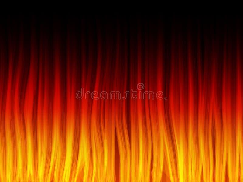 ogień płonie realistycznego ilustracji