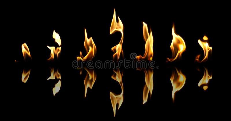 ogień płonie set obrazy stock