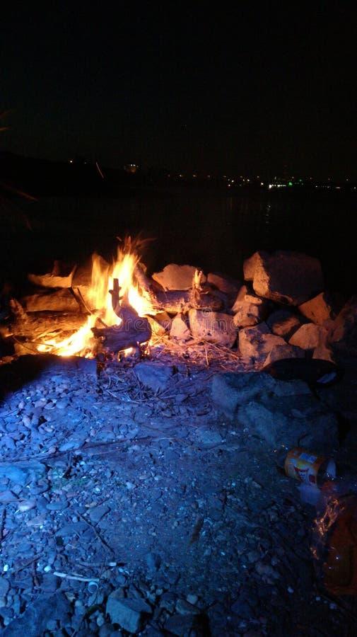 Ogień przy Rhein w Germany obrazy stock