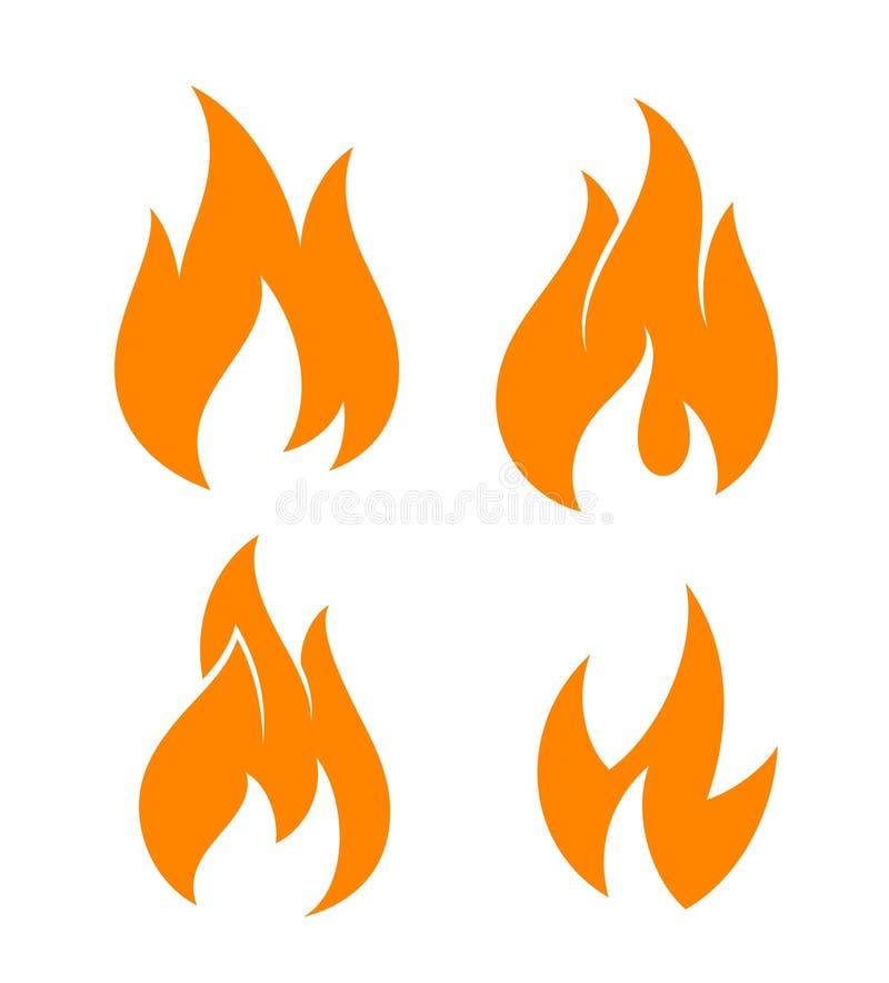 ogień Set royalty ilustracja