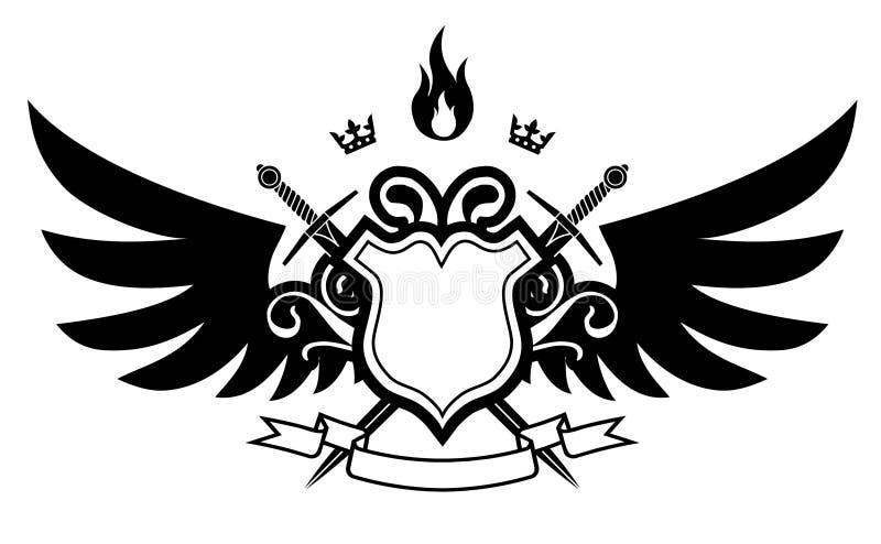 ogień skrzydła ilustracja wektor