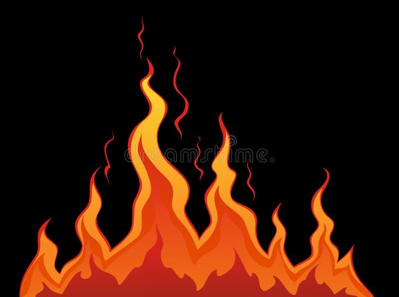 ogień stylizował ilustracji