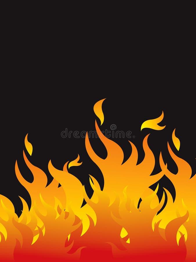 ogień tła gorące ilustracji