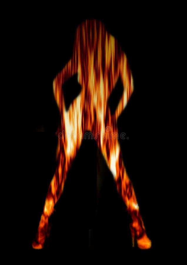ogień tancerkę. fotografia royalty free