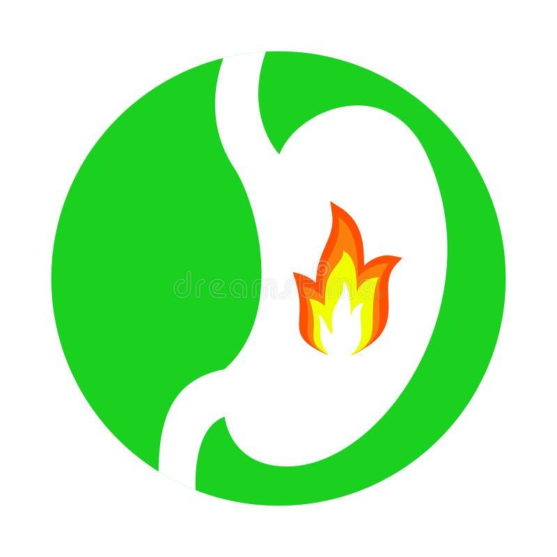 Ogień w żołądku ilustracja wektor