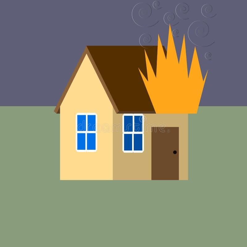 ogień w domu ilustracja wektor