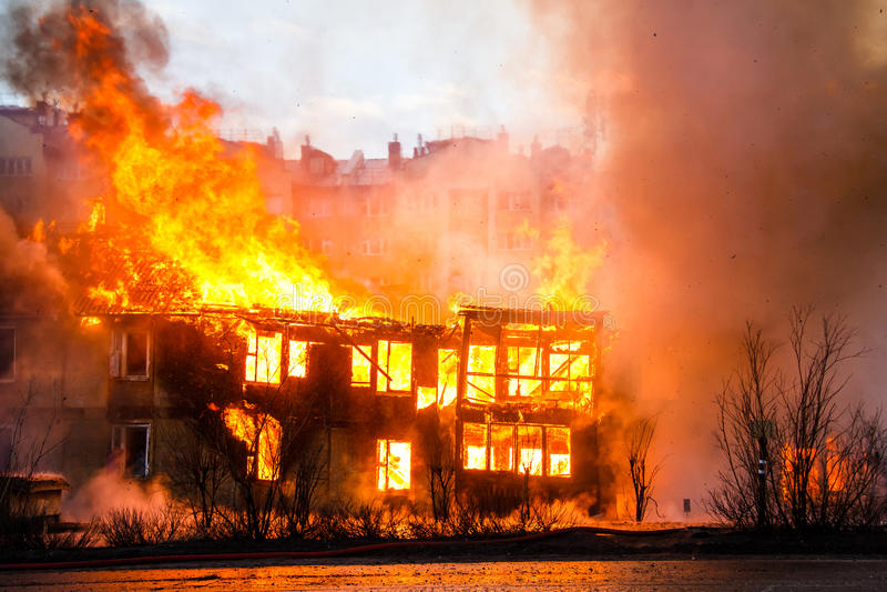Ogień w domu fotografia royalty free