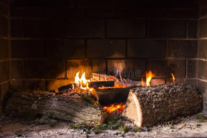 Ogień w grabie zdjęcia stock