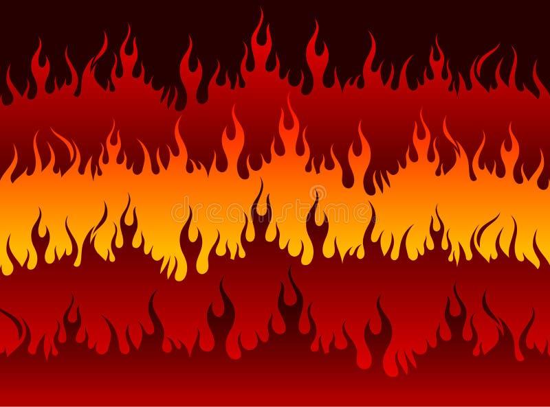 Ogień w piekle ilustracja wektor