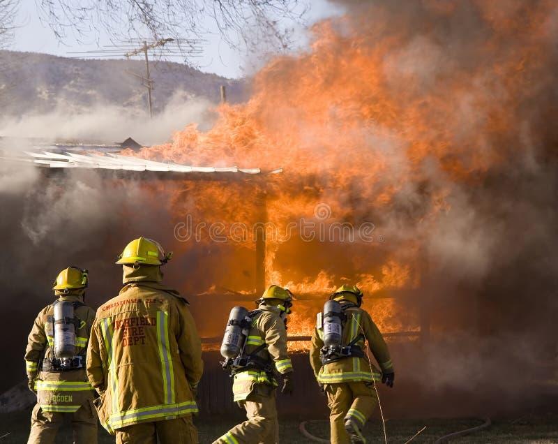 ogień wojownika. zdjęcia stock