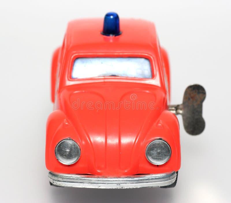 ogień z żuka samochód nawalił szef zabawki zdjęcie stock