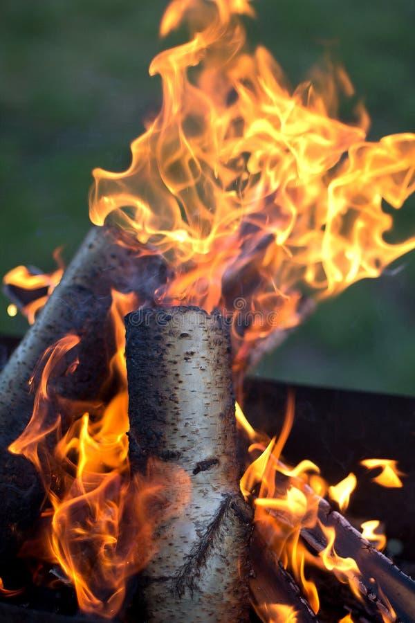 Ogień z płomieniami fotografia royalty free