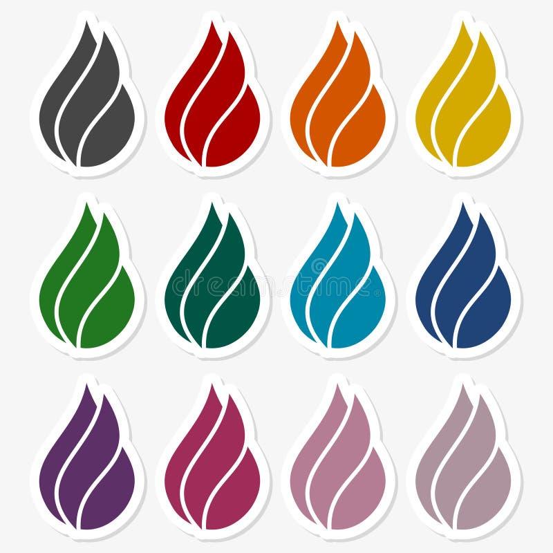Ogień - znaka set ilustracji