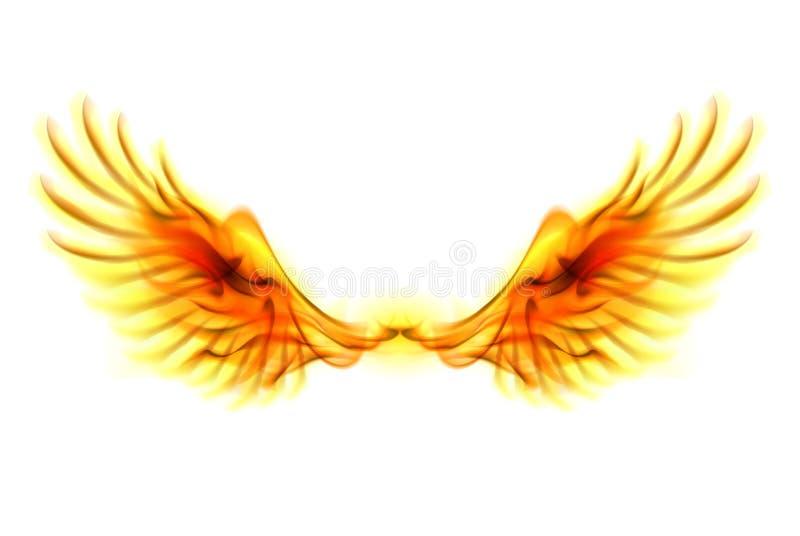 Ogieni skrzydła. ilustracja wektor