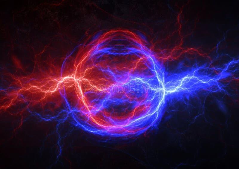 Ogienia i lodu elektryczna błyskawica ilustracja wektor