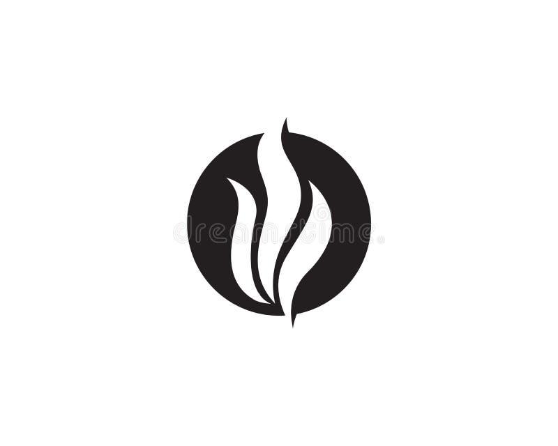 Ogienia i skrzydeł logo gorący wektory royalty ilustracja