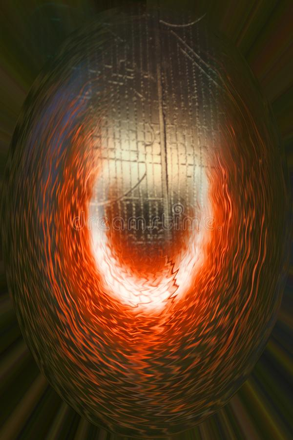 Ogienia, lodu i wody tajemnicy energia Environmnet, obraz stock