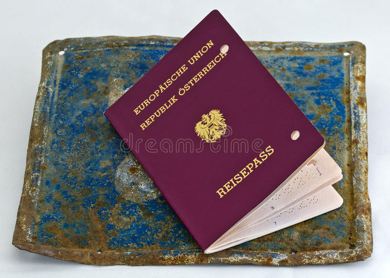 Ogiltigt europeiskt pass arkivfoto