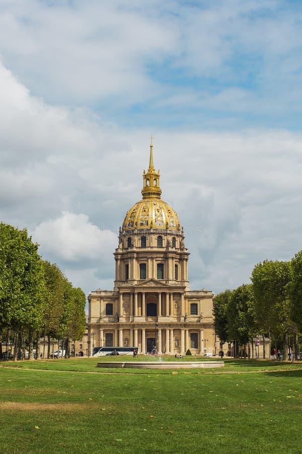 Ogiltigt hotell, berömda byggnader i Paris royaltyfria bilder