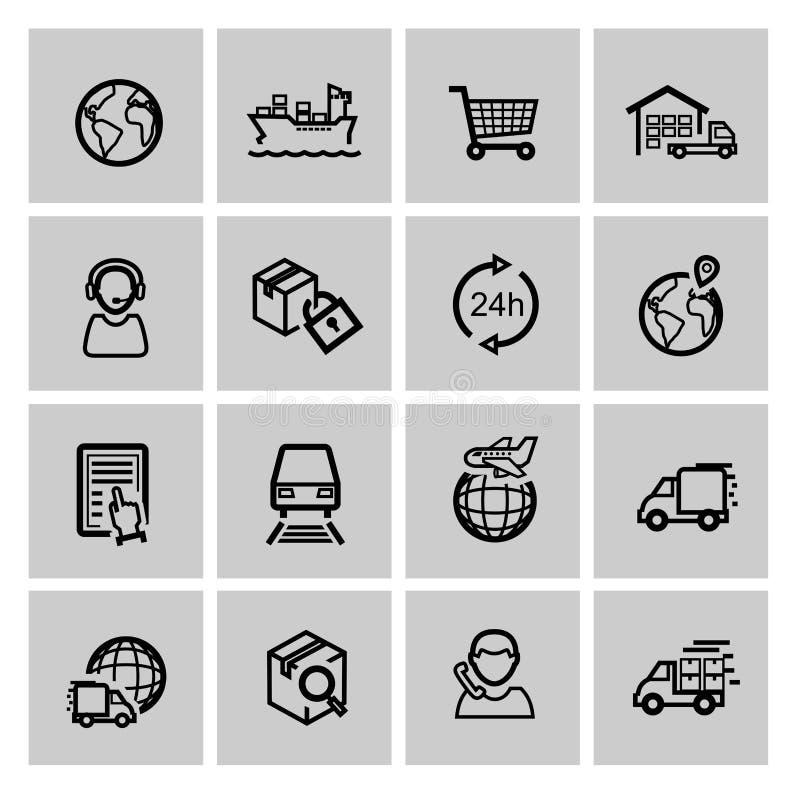 Ogistic y envío stock de ilustración
