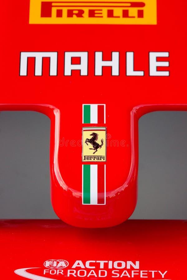 Ogive de Ferrari d'une voiture F1 photos stock
