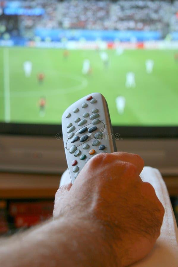 ogląda mecz obraz royalty free