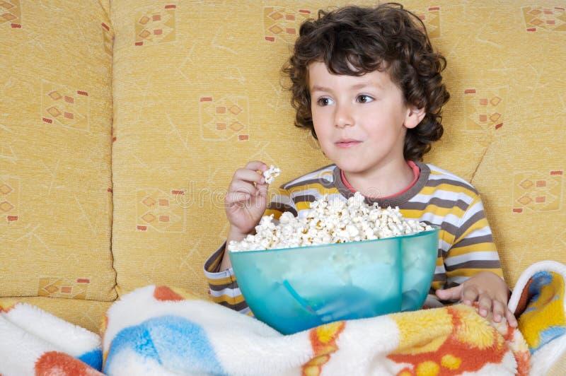 oglądanie telewizji zdjęcie stock