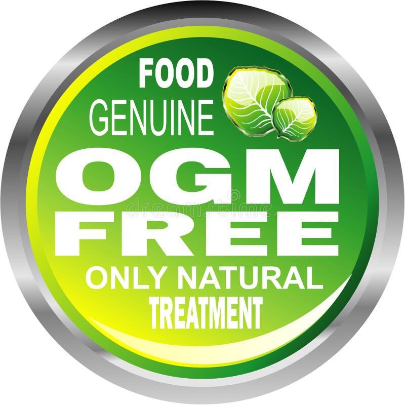 OGM free food emblem stock image