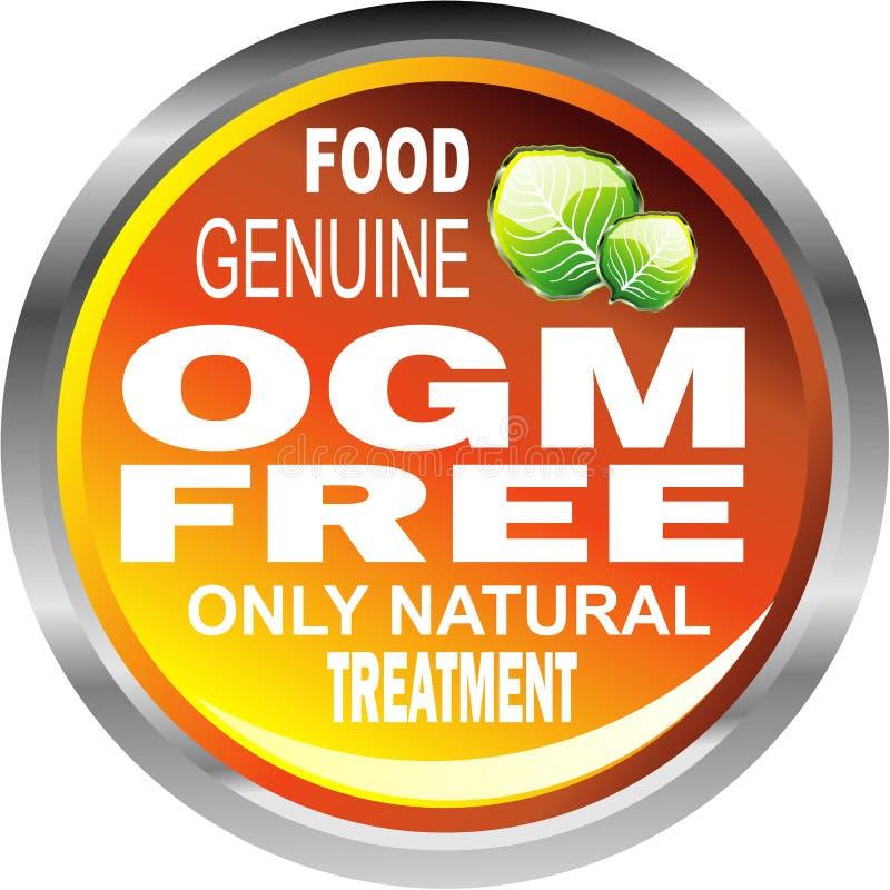 OGM liberan el emblema del alimento stock de ilustración