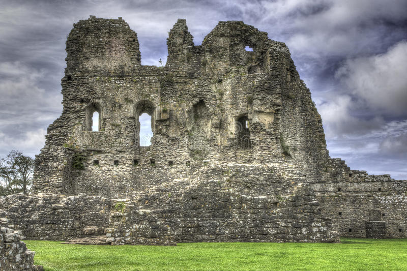 Ogmore Castle, Wales, UK. Site of Ogmore Castle in Wales royalty free stock photography