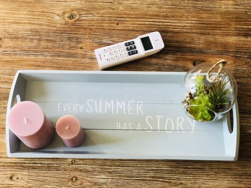 Ogni estate ha una storia! Progettazione di rilassamento fotografia stock