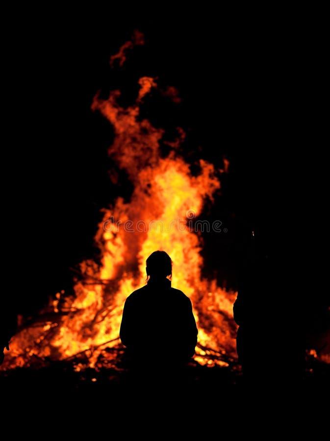 ogniska frontowi kobiety potomstwa zdjęcia stock