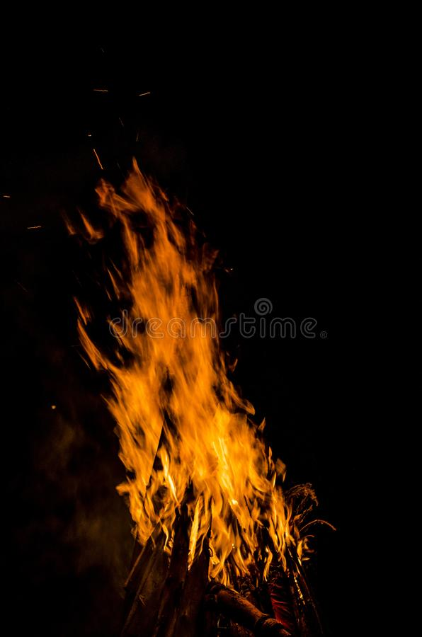 Ognisko noc GOA zdjęcie royalty free