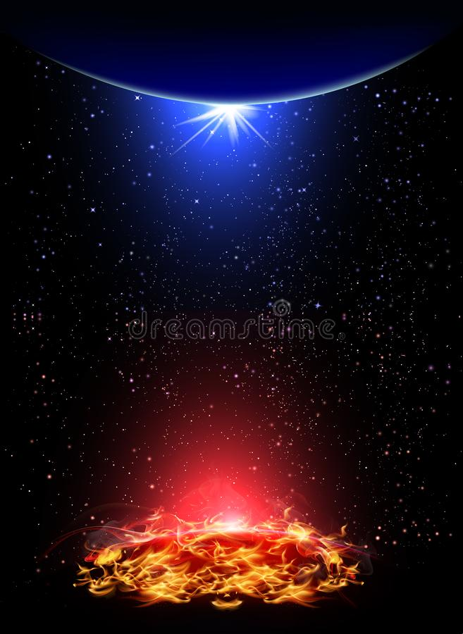 Ogniste i zimno planety royalty ilustracja