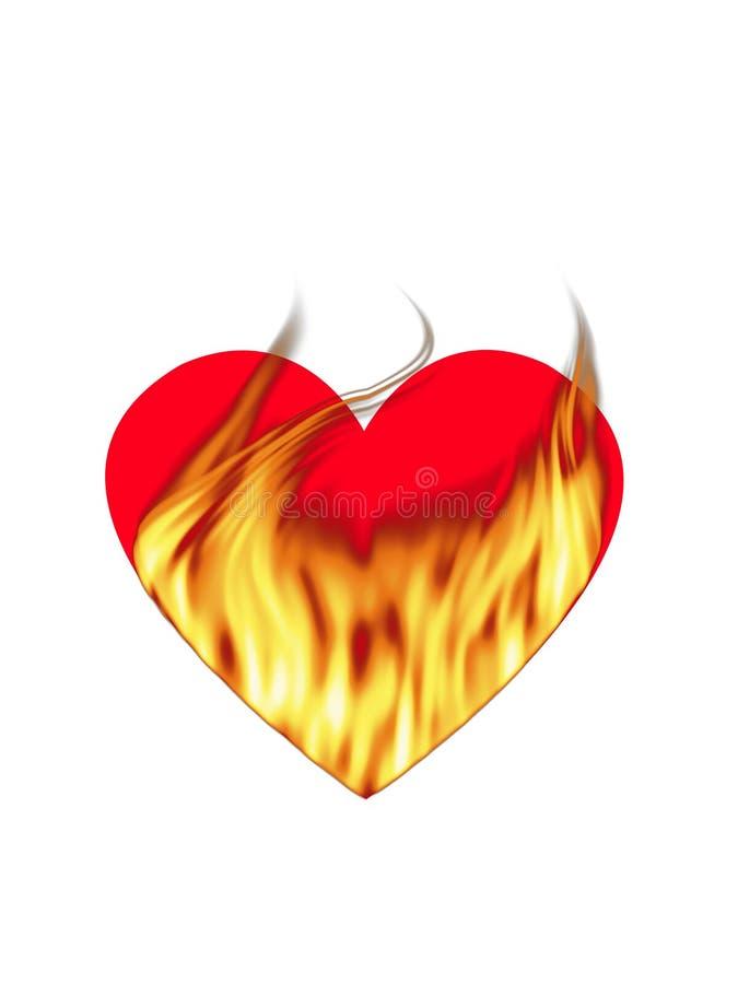 ognistej miłości ilustracji