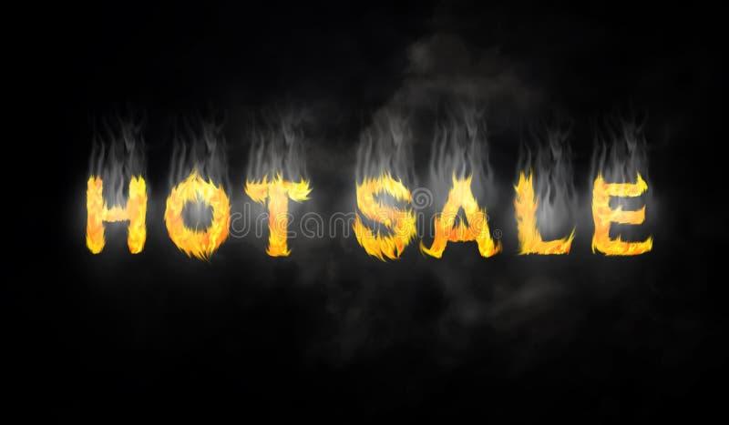 Ognisty gorący sprzedaż projekt ilustracja wektor