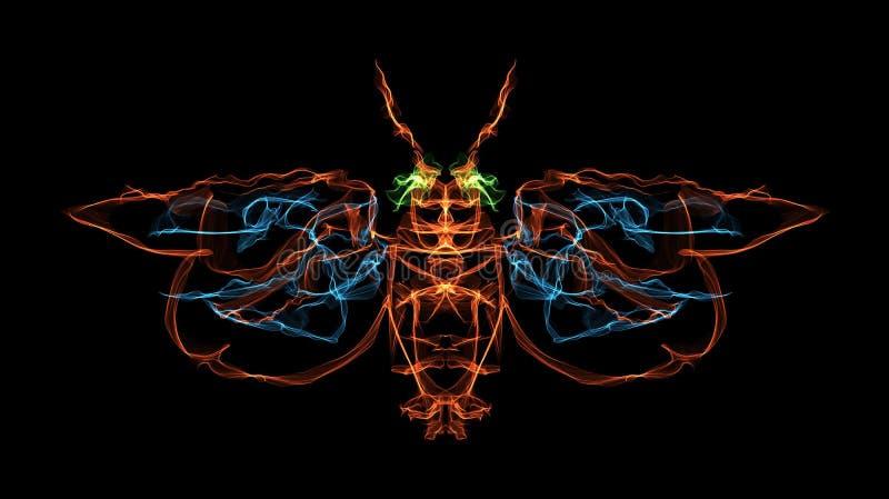 Ognisty insekt royalty ilustracja