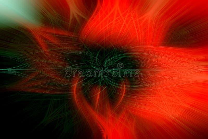 Ognisty kwiat jaskrawi czerwieni i czerni kolory jako tło, royalty ilustracja