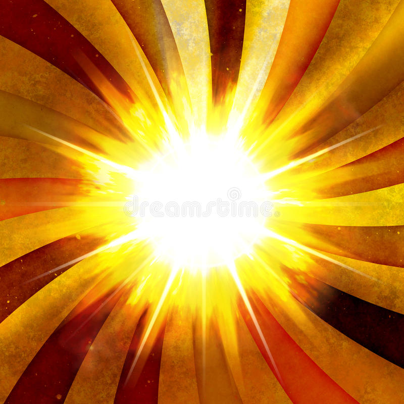 Ognisty Promieniowy wybuch ilustracja wektor