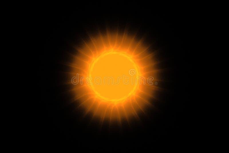 Ognisty słońce w zmroku zdjęcie royalty free