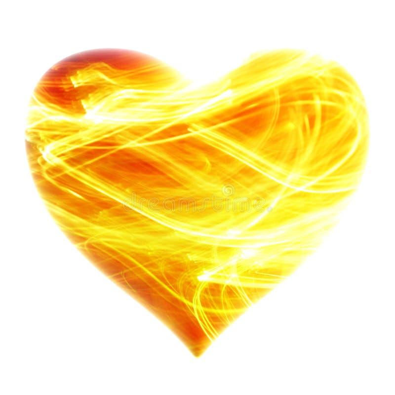 ognisty tła serce zdjęcia royalty free