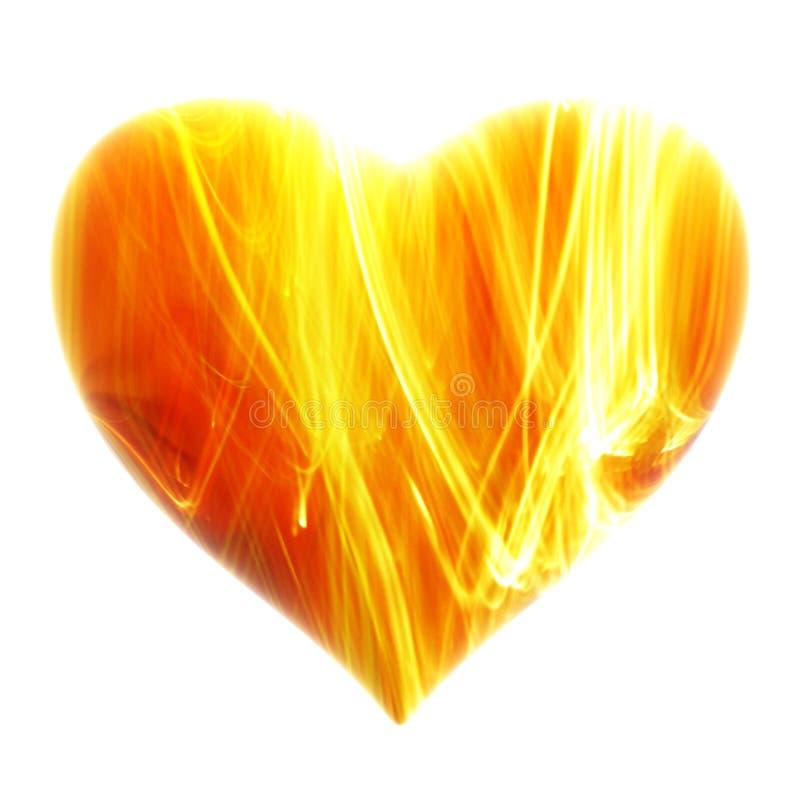 ognisty tła serce zdjęcia stock