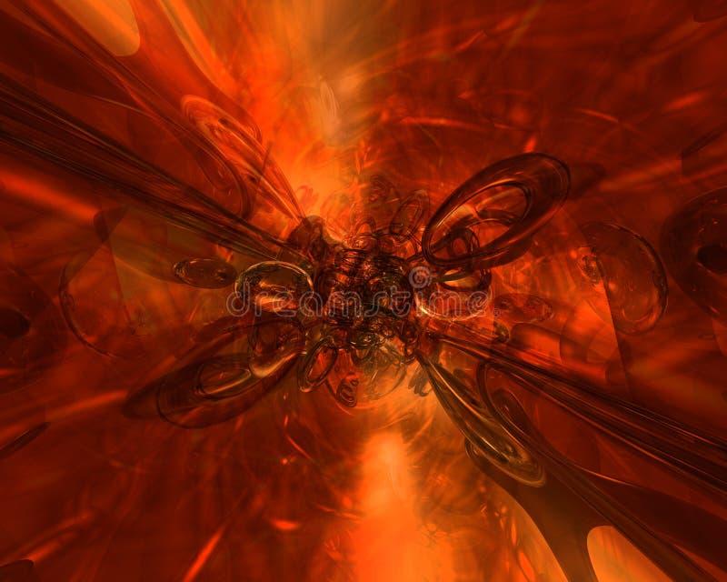 ognisty tło royalty ilustracja