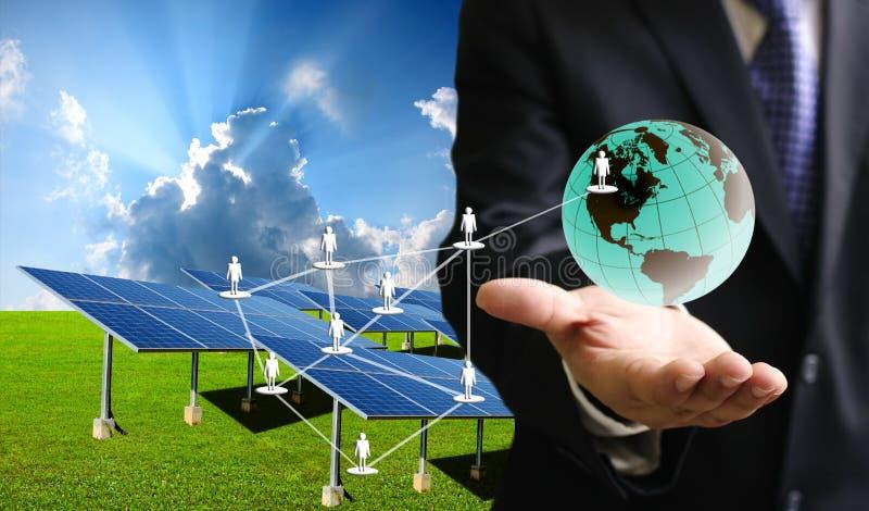Ogniwo słoneczne biznes obraz stock